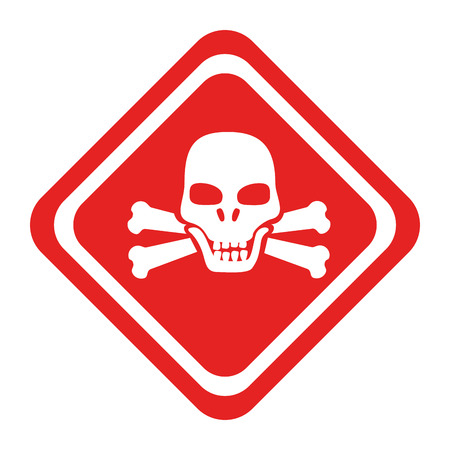 advert: danger caution advert, isolated flat icon design