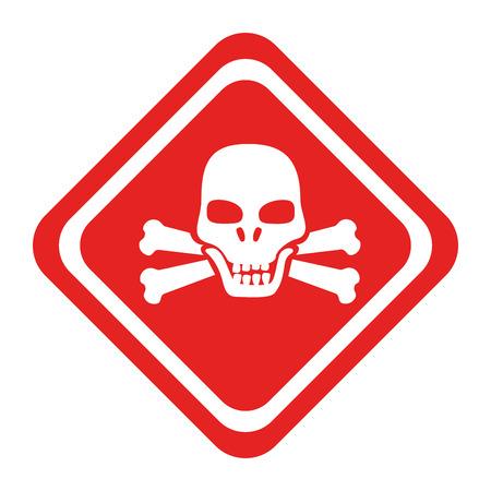 dangerous construction: danger caution advert, isolated flat icon design