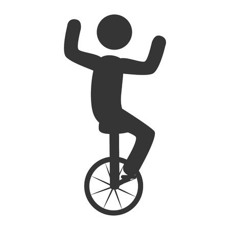 acrobatics: circo acrobacias espect�culo, dise�o ic�nico plana Vectores