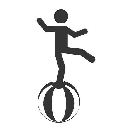 acrobatics: circus acrobatics show, isolated flat icon design Illustration