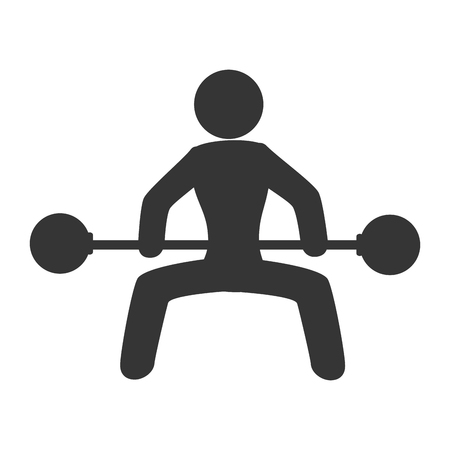 gym weights male, isolated flat icon design