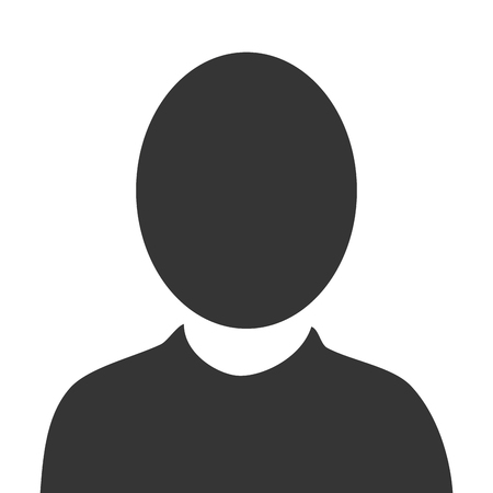 profil pictogramme mâle, isolé icône du design plat