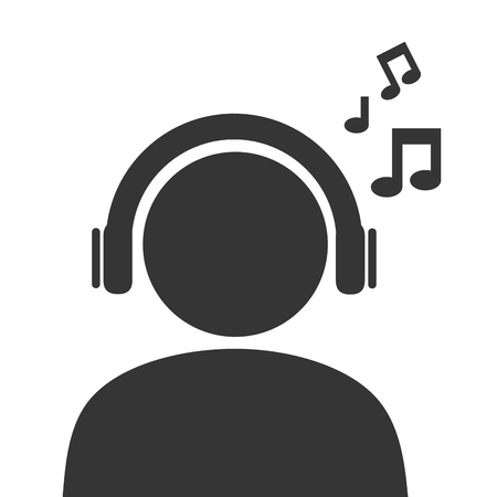 default: male pictogram profile, isolated flat icon design
