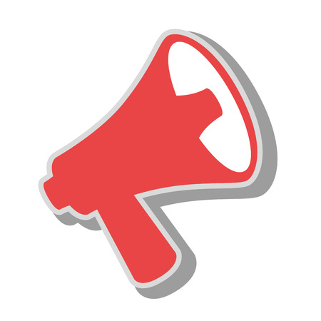 bullhorn megaphone advert, isolated flat icon design Illustration