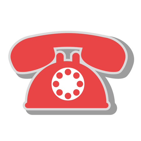 telephone service call, isolated flat icon design