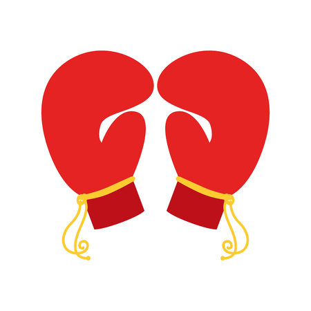 boxing gloves pair, isolated flat icon design