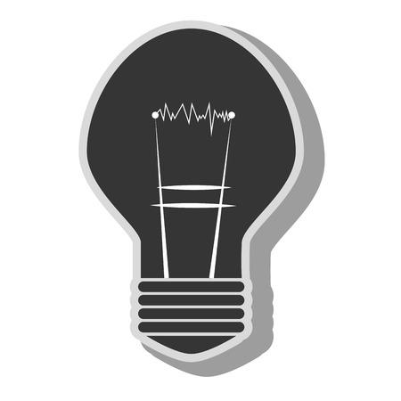 watt: bulb energy light, isolated flat icon design