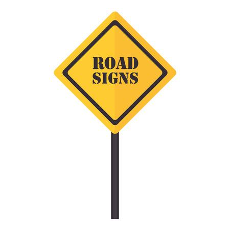señal de tránsito letrero, diseño icónico plana