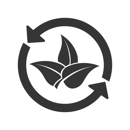 plant nature ecology, isolated flat icon design
