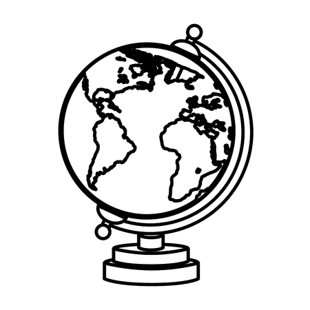 territory: Earth world planet, isolated flat icon design