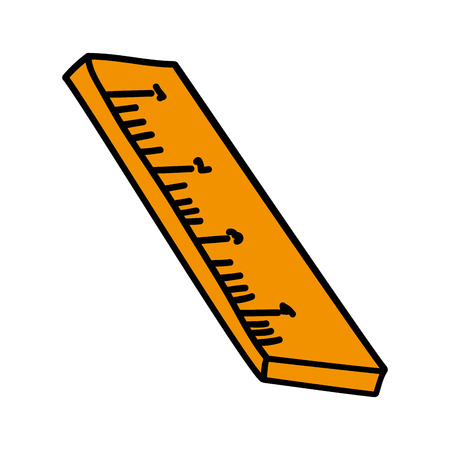 Measure ruler isolated flat icon, vector illustration graphic design. Illustration