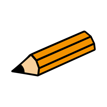 secretarial: Pencil drawing object ,isolated black and white flat icon design Illustration
