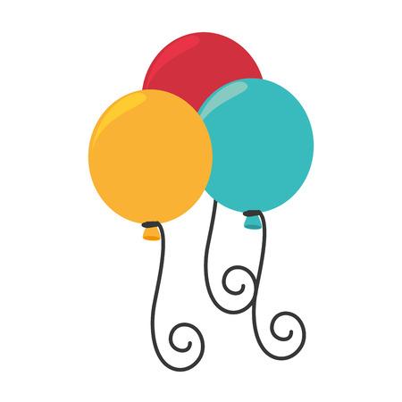 celebration party: balloons party celebration isolated flat icon design
