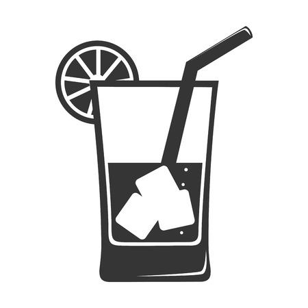Tazza di vetro cocktail isolato icona di design piatto Archivio Fotografico - 61049889