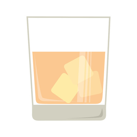 whisky: whisky cold glass isolated flat icon design