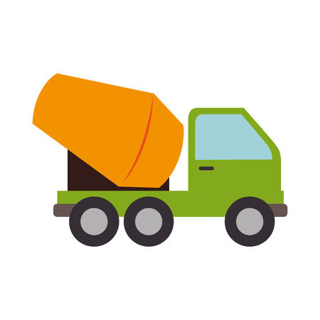 concrete mixer truck: concrete mixer truck construction vector graphic isolated and flat illustration