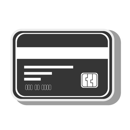 plastic money: card  credit debit money pay chip transaction plastic  money vector graphic isolated and flat illustration