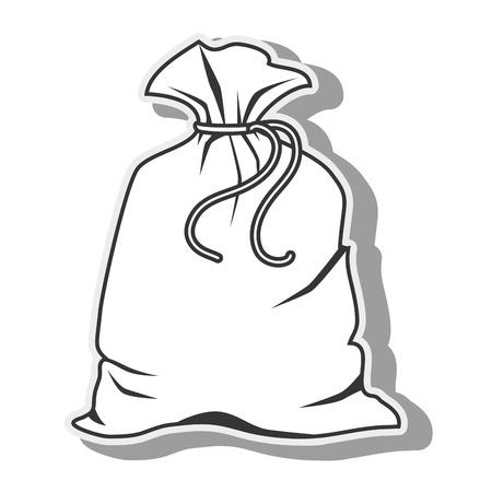 borsa sacco pacchetto trasportare oggetto tessile tessuto grafico vettoriale isolato e piatto illustrazione