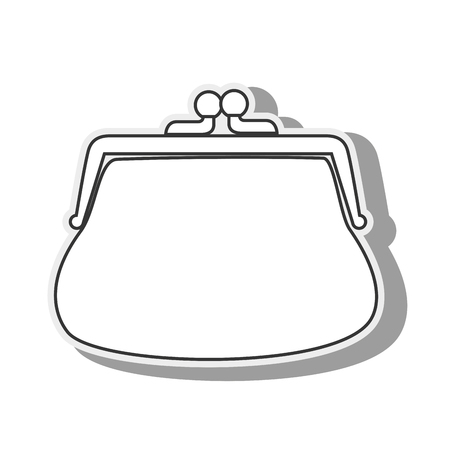 purse coins money closed wallet money save vintage vector graphic isolated and flat illustration Illustration