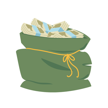 bag money rich economy  sign financial bank dollar cash vector graphic isolated and flat illustration