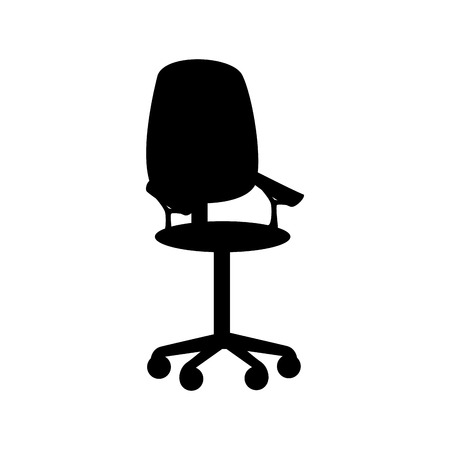 front office: chair  front office armchair cmfortable supplies furniture desk front vector graphic isolated and flat illustration