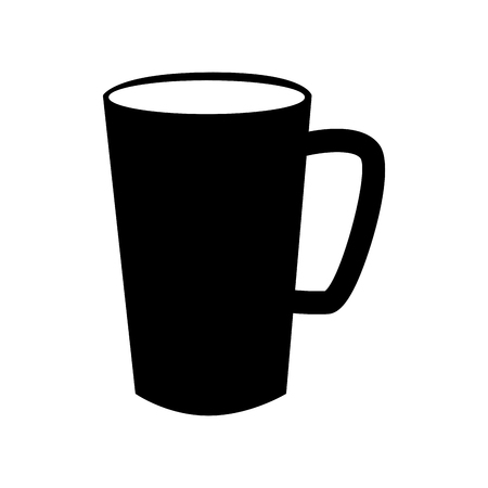 cofee cup: cup handle cofee traditional simple tea drink  vector graphic isolated and flat illustration