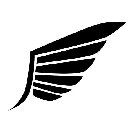 freedom nature: wing modern stripes bird heaven fly eagle nature freedom sign icon vector graphic isolated and flat illustration
