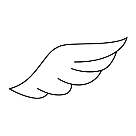 freedom nature: wing angel bird heaven fly eagle nature freedom sign icon vector graphic isolated and flat illustration