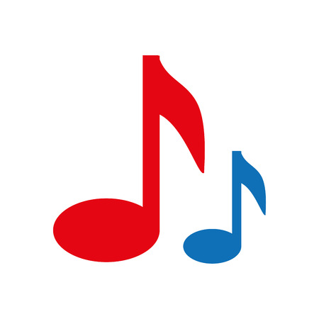 semiquaver: note music musical symbol vector graphic isolated and flat illustration