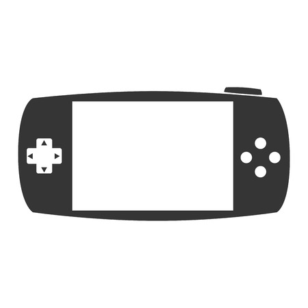 portable console: portable game gaming buttons arrows screen entertainment electronic technology devices vector graphic isolated and flat illustration Illustration
