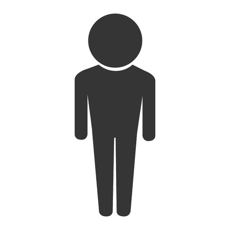chap: man male guy boy men head body icon person user vector graphic isolated and flat illustration