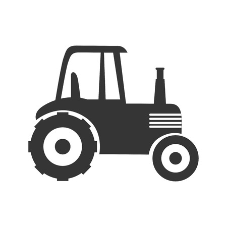 cultivate: tractor farm agriculture wheel field equipment truck work cultivate vector graphic isolated and flat illustration Illustration