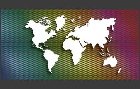 environment geography: world earth planet design, vector illustration Illustration