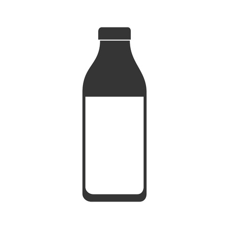 vacas lecheras: bottle liquid drink milk glass food eat vector graphic isolated and flat illustration