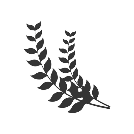 laurel leaf: laurel branch leaf nature natural symbol border  insignia vector graphic isolated and flat illustration