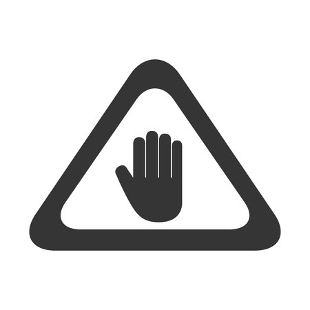 precaution: hand sign precaution attention signal caution information palm vector graphic isolated and flat illustration Illustration