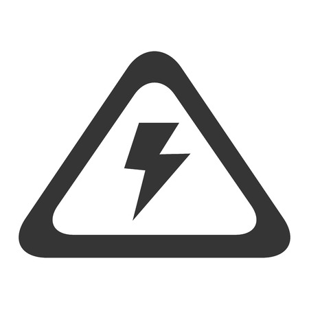 voltage sign: high voltage sign electricity volt caution power vector graphic isolated and flat illustration