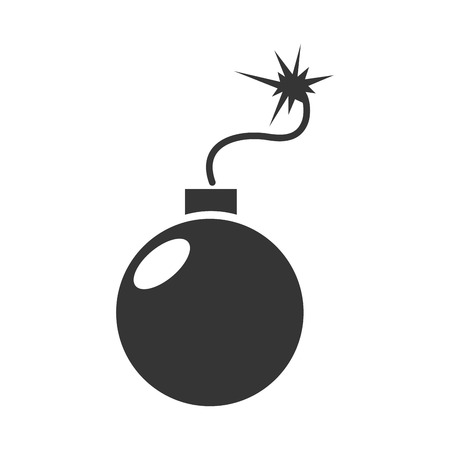 detonation: bomb explosive detonation icon spark detonation vector graphic isolated and flat illustration