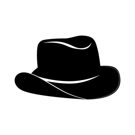 rancher: hat cowboy rancher west sheriff classic rodeo vector graphic isolated and flat illustration