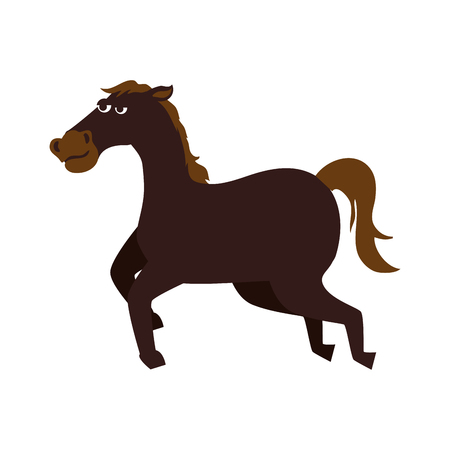 speed ride: horse ride run equine speed stallion ranch west vector graphic isolated and flat illustration