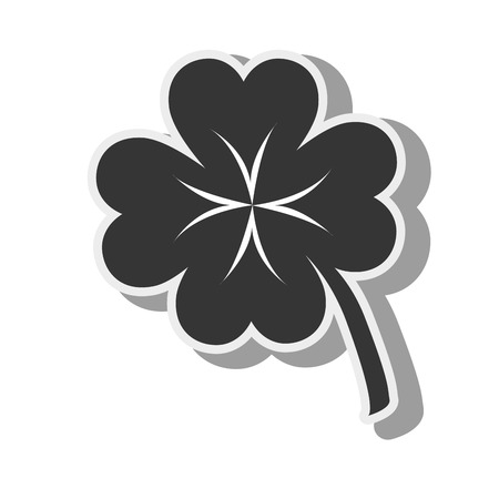 lucky plant: clover lucky plant green leaf ecology leaves silhouette vector graphic isolated and flat illustration