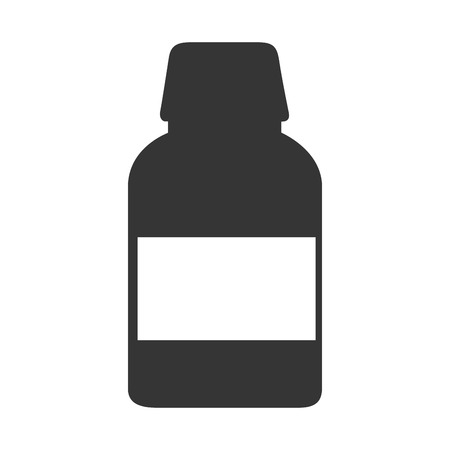 medicament: remedy bottle drugs medicine prescription medical medicament recipient pill vector graphic isolated and flat illustration