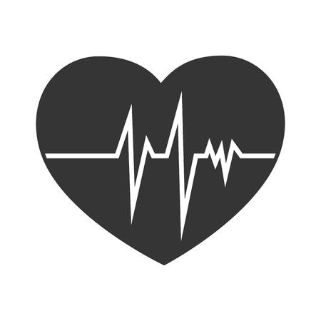 cardioid: la cardiología corazón análisis de la línea cardiaco aislado analizar la prueba del vector gráfico e ilustración plana
