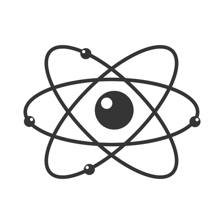 neutron: atomium atom element neutron circle sphere chemistry vector graphic isolated and flat illustration