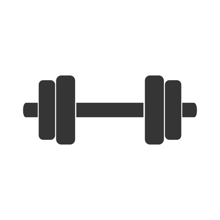 heavy weight: barbell power weight heavy muscle sport gym athletic vector graphic isolated and flat illustration