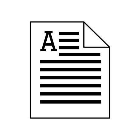 pagina's tellende document dossier produceren Artikel woord silhouet vector geïsoleerd grafisch en een flatscreen illustratie Vector Illustratie