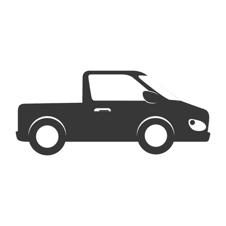 car side: car side automobile transport icon pickup silhouette vehicle vector graphic isolated and flat illustration