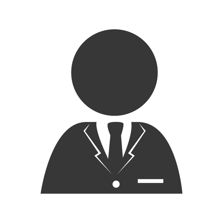 ceo: man tie person reception suit employee business ceo vector graphic isolated and flat illustration