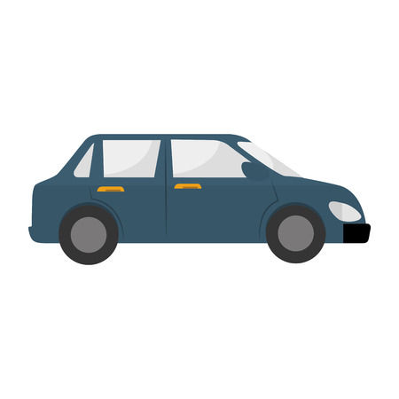 car side: car side  vehicle auto automobile transport icon modern vector graphic isolated and flat illustration Illustration