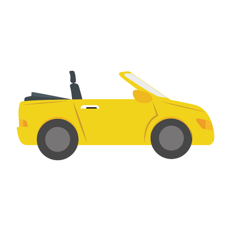 car side: car side  sport convertible vehicle auto automobile transport sedan icon modern vector graphic isolated and flat illustration
